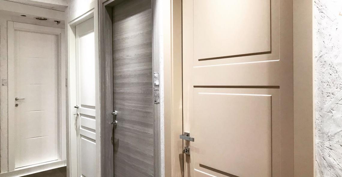 Porte interne laccate bianco, grigio e tortora solo da Showroom ...